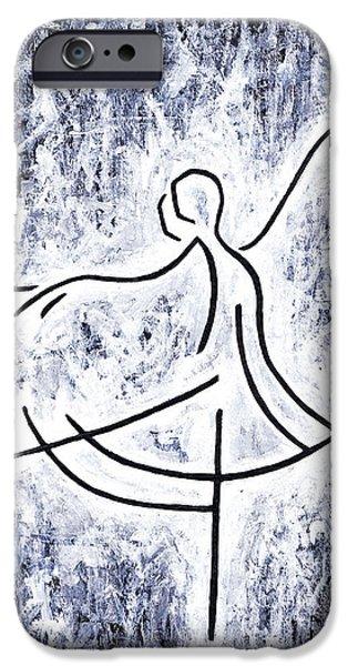 Little Girl iPhone Cases - Dancing Swan iPhone Case by Kamil Swiatek