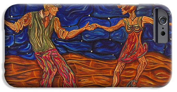 Dance Floor Paintings iPhone Cases - Dancing the Night Away iPhone Case by Susan Cliett