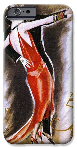 Sheets Drawings iPhone Cases - Dancing The Tango iPhone Case by Granger