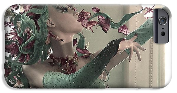 Contemporary Photographs iPhone Cases - Dancing with Butterflies iPhone Case by Marianna Mills