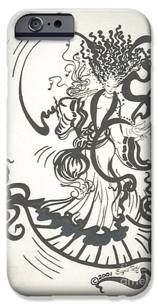 Dancing With the Muse iPhone Case by Sigrid Tune