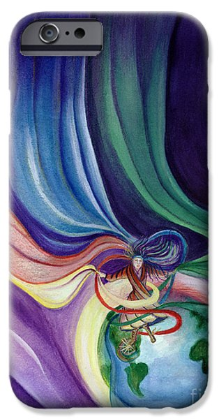 Culture Pastels iPhone Cases - Dancing With The Veils iPhone Case by L T Sparrow