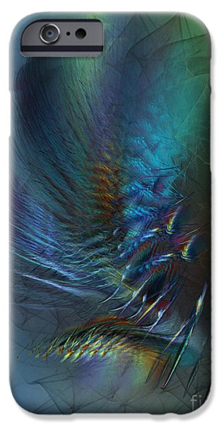 Lyrical iPhone Cases - Dancing With the Wind-Abstract Art iPhone Case by Karin Kuhlmann