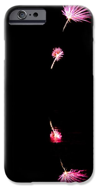 Fourth Of July iPhone Cases - Dandelion Fireworks iPhone Case by Parker Cunningham