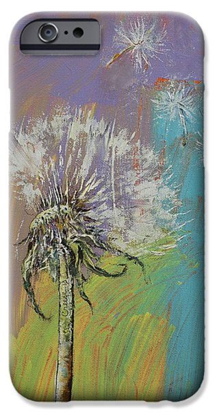 Michael iPhone Cases - Dandelion iPhone Case by Michael Creese