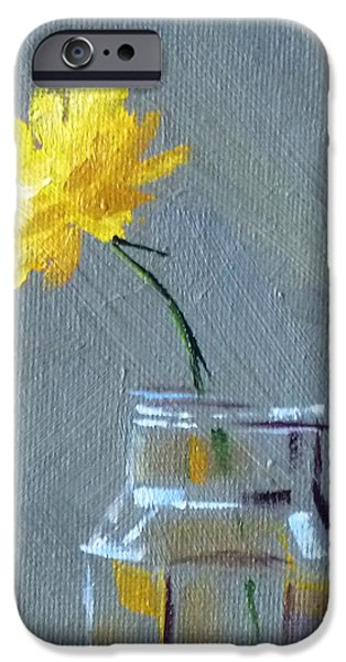 Business Paintings iPhone Cases - Dandelion iPhone Case by Nancy Merkle