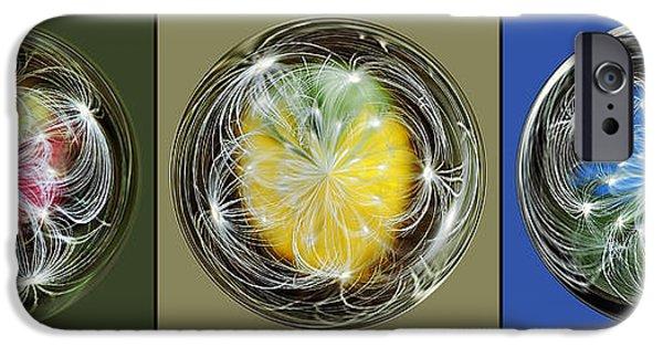 Floral Digital Art Digital Art iPhone Cases - Dandies in a Line iPhone Case by Kaye Menner