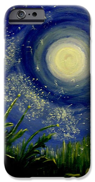 Windblown Paintings iPhone Cases - Dandy  Magic iPhone Case by Tammy Rogers