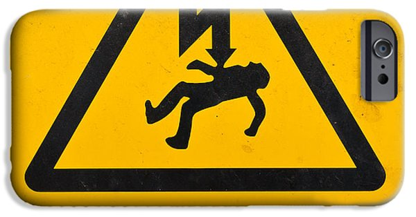 Electricity Drawings iPhone Cases - Danger Of Death - Electricity iPhone Case by Shawn Hempel