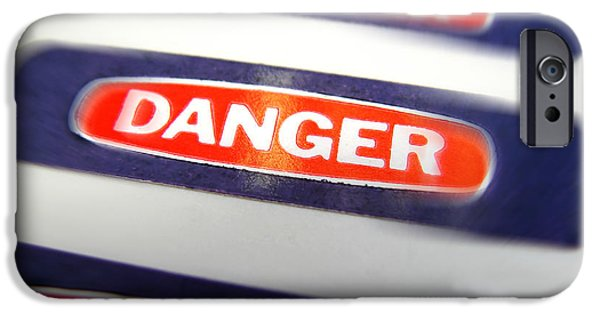 Sticker iPhone Cases - Danger iPhone Case by Olivier Le Queinec