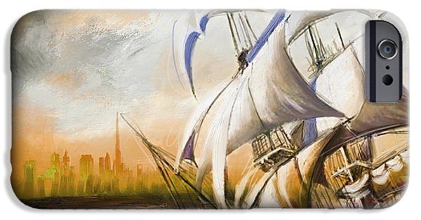 Pirate Ship iPhone Cases - Dangerous Tides iPhone Case by Corporate Art Task Force