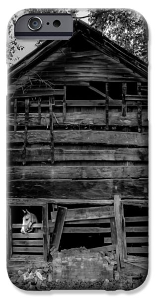 Old Barns iPhone Cases - Daniel Boone Cabin iPhone Case by Karen Wiles