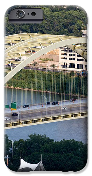 Daniel Carter Beard Bridge Cincinnati Ohio iPhone Case by Paul Velgos
