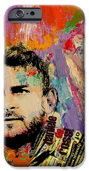 Russia Paintings iPhone Cases - Daniele De Rossi iPhone Case by Corporate Art Task Force