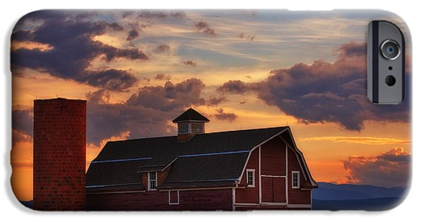Barns Photographs iPhone Cases - Dannys Barn iPhone Case by Darren  White