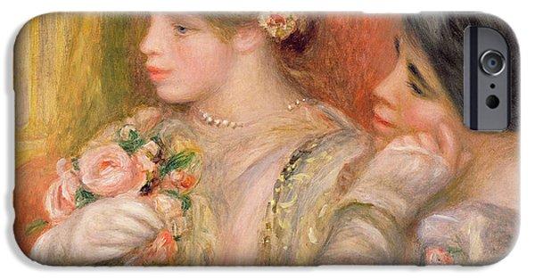 Absorb iPhone Cases - Dans La Loge, C.1908 Oil On Canvas iPhone Case by Pierre Auguste Renoir