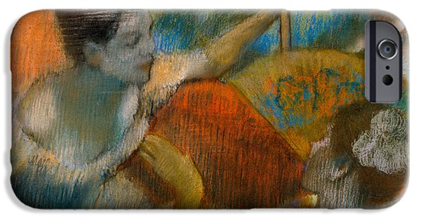 Ballet Dancers iPhone Cases - Danseuse a lEventail iPhone Case by Edgar Degas
