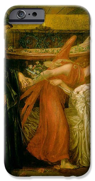 Dantes Dream at the Time of the Death of Beatrice 1856 iPhone Case by Dante Gabriel Rossetti