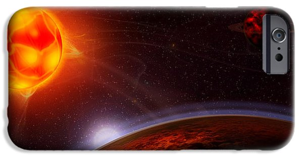 Intergalactic Space iPhone Cases - Dantes Symphony iPhone Case by Anthony Citro