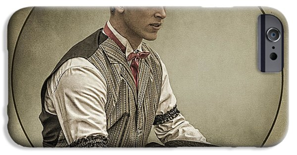 Prescott Digital iPhone Cases - Dapper Dan iPhone Case by Priscilla Burgers