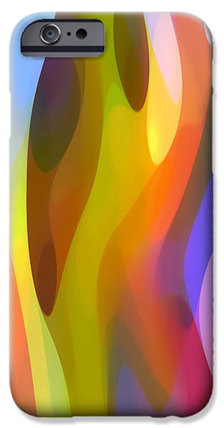Nature Abstract iPhone Cases - Dappled Light 3 iPhone Case by Amy Vangsgard