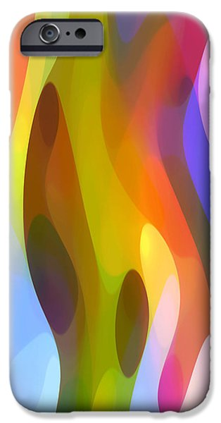 Abstract Movement iPhone Cases - Dappled Light 4 iPhone Case by Amy Vangsgard
