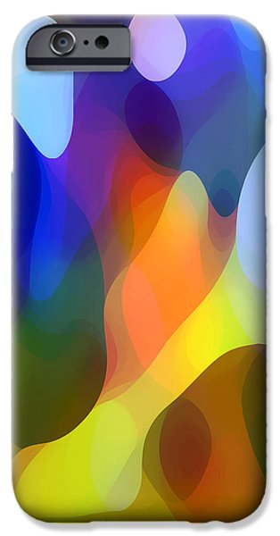 Abstract Landscape Digital Art iPhone Cases - Dappled Light iPhone Case by Amy Vangsgard