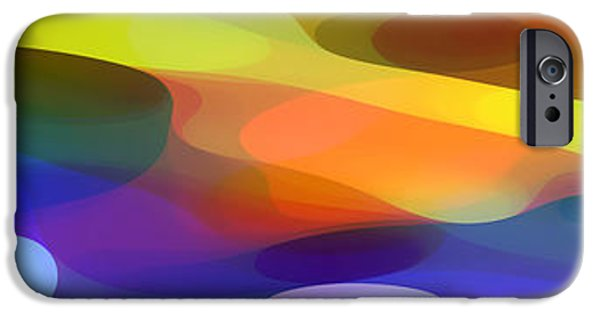 Colorful Abstract iPhone Cases - Dappled Light Panoramic 1 iPhone Case by Amy Vangsgard