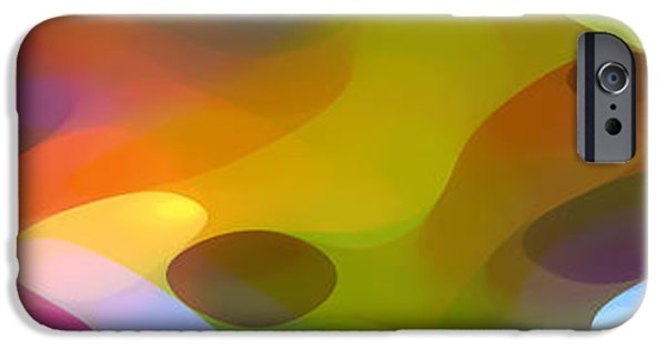 Colorful Abstract iPhone Cases - Dappled Light Panoramic 2 iPhone Case by Amy Vangsgard