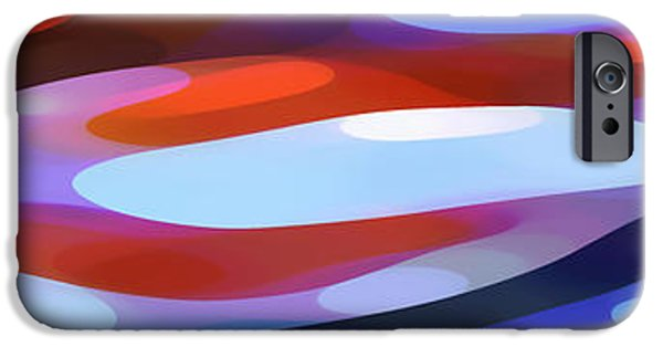 Abstract Forms iPhone Cases - Dappled Light Panoramic 3 iPhone Case by Amy Vangsgard