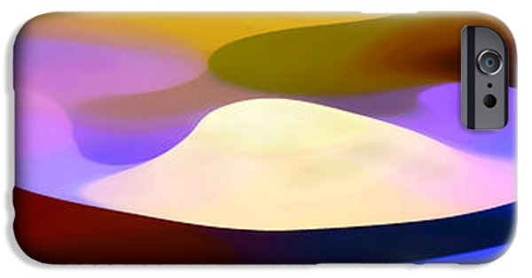 Colorful Abstract iPhone Cases - Dappled Light Panoramic 4 iPhone Case by Amy Vangsgard