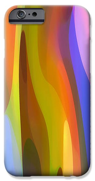 Abstractions iPhone Cases - Dappled Light Panoramic Vertical 1 iPhone Case by Amy Vangsgard