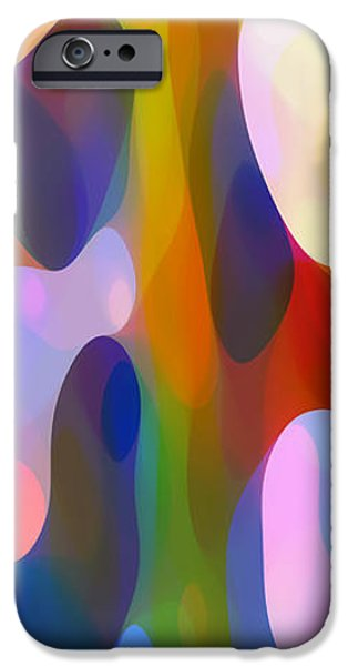 Abstractions iPhone Cases - Dappled Light Panoramic Vertical 2 iPhone Case by Amy Vangsgard
