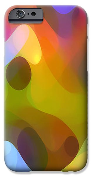 Abstractions iPhone Cases - Dappled Light Panoramic Vertical 3 iPhone Case by Amy Vangsgard
