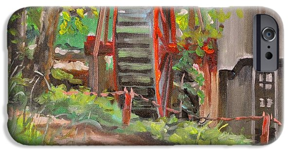 Grist Mill iPhone Cases - Dappled Road iPhone Case by Spencer Meagher