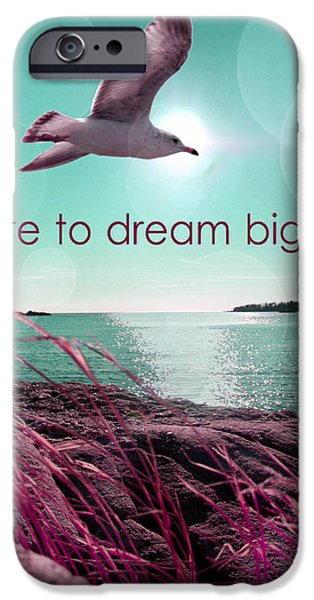 Orsillo iPhone Cases - Dara To Dream Big  iPhone Case by Mark Ashkenazi