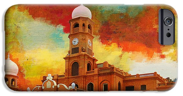 Pakistan iPhone Cases - Darbar Mahal iPhone Case by Catf