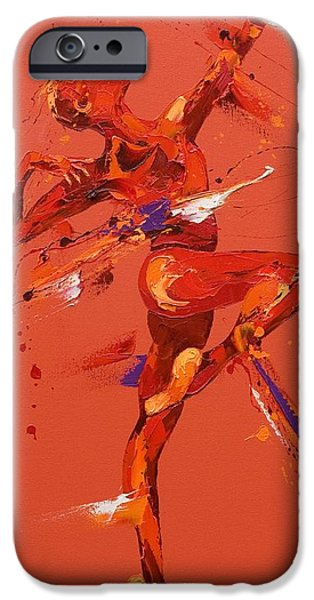 Ballet Dancers Paintings iPhone Cases - Dare  iPhone Case by Penny Warden