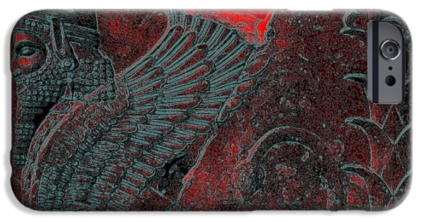 King Of The Persians iPhone Cases - Dariush the Great-Sphinx2 iPhone Case by Dariush Alipanah- Jahroudi