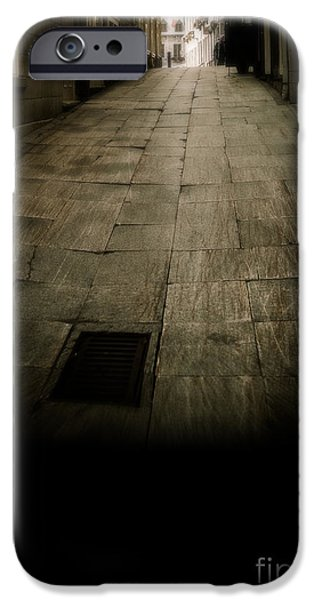 Copy iPhone Cases - Dark alley in old historic city iPhone Case by Edward Fielding