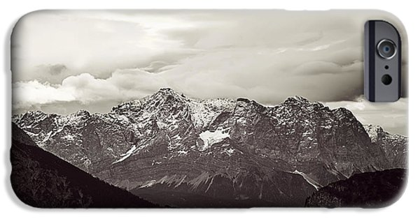 Alps iPhone Cases - Dark Alps iPhone Case by Ryan Wyckoff