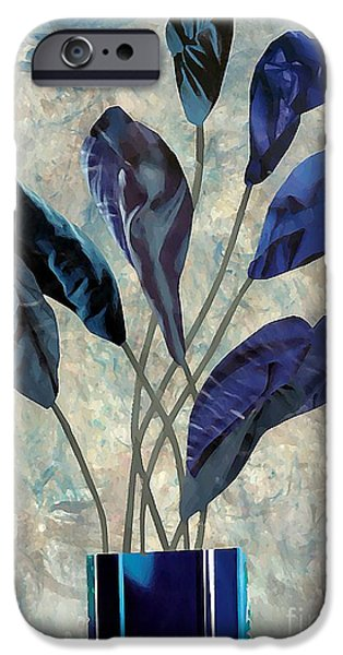 Sarah Loft iPhone Cases - Dark Blue iPhone Case by Sarah Loft