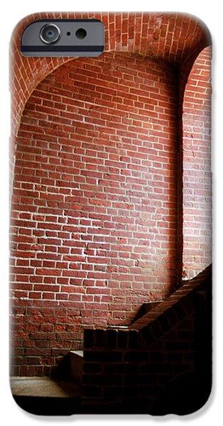 Wine Vault iPhone Cases - Dark Brick Passageway iPhone Case by Frank Romeo