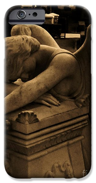 Usa Sculptures iPhone Cases - Dark Day of Sorrow iPhone Case by Nathan Little