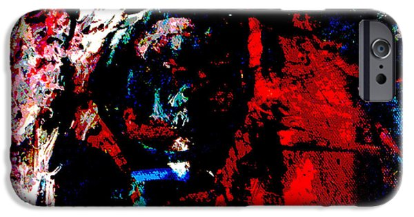Buildings Mixed Media iPhone Cases - Dark Faces iPhone Case by Sir Josef  Putsche