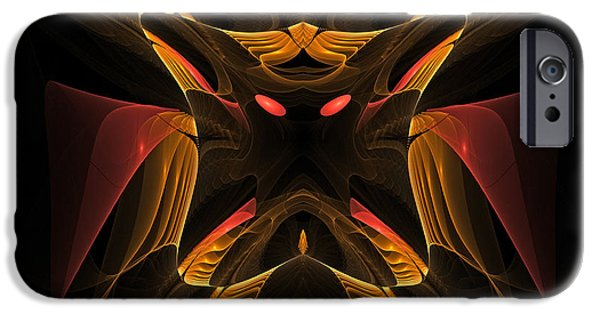 Figure iPhone Cases - Dark Dragonfly iPhone Case by Kevin Round