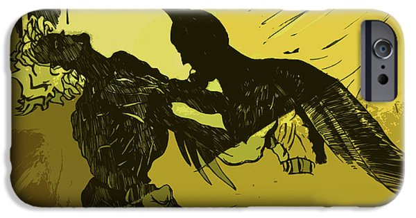 Dc Universe iPhone Cases - Dark Knight  iPhone Case by Jazzboy