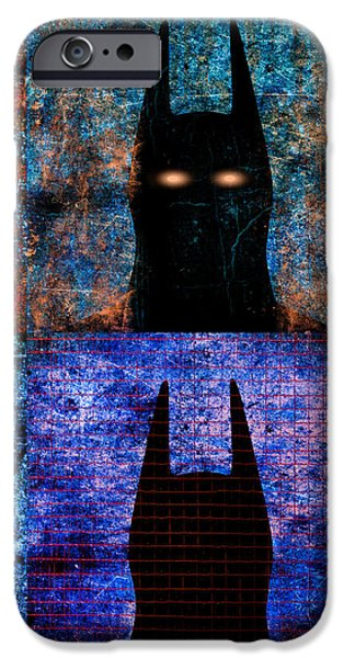Decorative Digital Art iPhone Cases - Dark Knight Number 5 iPhone Case by Bob Orsillo