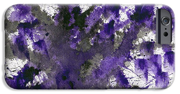 Dark Matter Paintings iPhone Cases - Dark Matter iPhone Case by Eric Forster