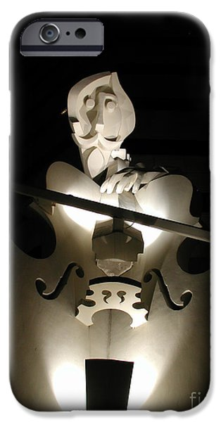 Usa Sculptures iPhone Cases - The Dark Musician iPhone Case by Nathan Little
